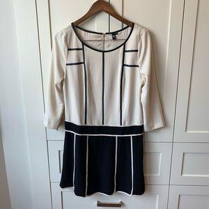 Vero Moda Cream and Black Dress